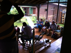 Relax en la terraza - ALBERGUE LLANES PLAYA DE POO