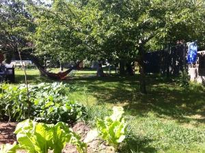 jardin y hamaca - ALBERGUE LLANES PLAYA DE POO